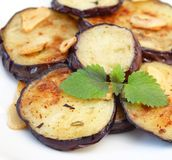 Eggplants with garlic Royalty Free Stock Photos