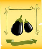 Eggplants illustration royalty free stock images