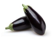 Eggplants isolated on white background Stock Images