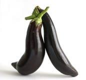 Eggplants in love Stock Photo