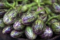 Eggplants at market Royalty Free Stock Image