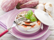 Eggplants parmigiana Royalty Free Stock Images
