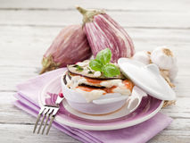 Eggplants parmigiana. Traditional italian recipe Royalty Free Stock Photo