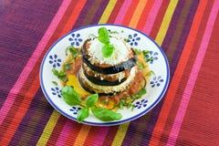 Eggplants parmigiana Stock Image