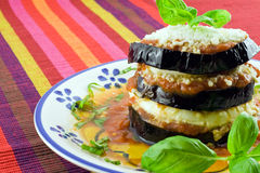 Eggplants parmigiana Stock Images