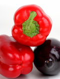 Eggplants and peppers Royalty Free Stock Image