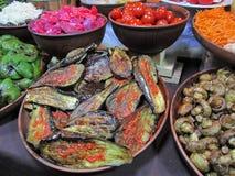 Eggplants on plate. Stock Image