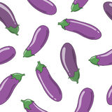 Eggplants seamless pattern Stock Images
