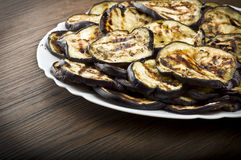 eggplants and slices grilled Royalty Free Stock Image