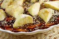 Eggplants soya sauce Stock Image