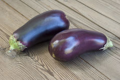 Eggplants on table Royalty Free Stock Images