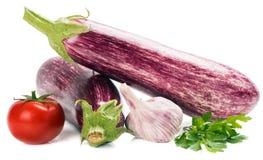Eggplants with vegetables Stock Photo