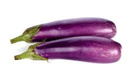 Eggplants on white background Royalty Free Stock Images
