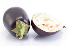 Eggplants  on white Royalty Free Stock Image