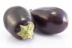 Eggplants  on white Stock Image