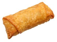 Eggroll with Clipping Path. Isolated eggroll with clipping path over white Royalty Free Stock Image