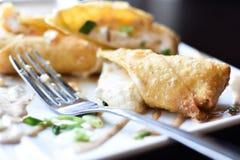 Eggroll do rancho do bacon de Turquia imagem de stock