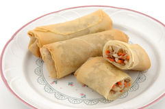 Eggroll plate. Close up Stock Photography