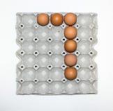eggs бумажный поднос для рынка Стоковые Фотографии RF