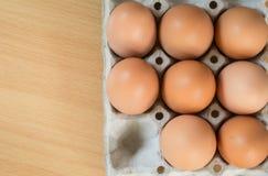 eggs бумажный поднос Стоковые Изображения RF