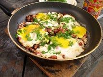 eggs ветчина Стоковые Фотографии RF