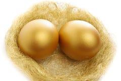 eggs золотистое гнездй 2 Стоковая Фотография
