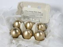 eggs золотистое Стоковые Изображения RF