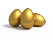 eggs золотистые 3 Стоковая Фотография RF