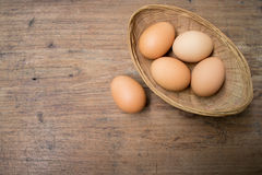 Eggs корзина Стоковое Фото