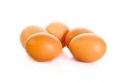 Eggs питание еды предпосылки isolatedon белое Стоковые Изображения