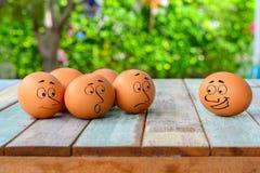 Eggs сторона шаржа на таблице Стоковое Изображение