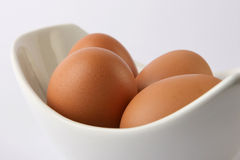 Eggs. In a white dish Stock Image