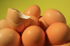 Eggs. And basket nature food royalty free stock photos