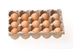 Eggs. A Box Of Eggs On White Backgroud Stock Image