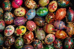 Eggs. The easter eggs motley and dappled Royalty Free Stock Photo