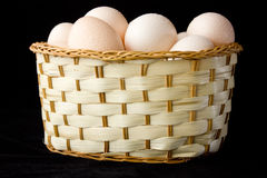 Eggs. Just out of the eggs from the refrigerator Royalty Free Stock Images