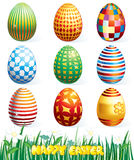 Eggs. Painting eggs collection-(vector available stock illustration