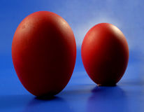 Eggs. Here are two red eggs for easter Stock Photography