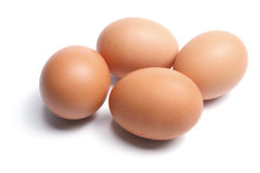 Eggs. Brown Eggs on White Background Stock Image