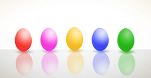 Eggs. Easter egg background set card Vector Illustration
