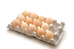Eggs. Fresh eggs in a box Stock Images
