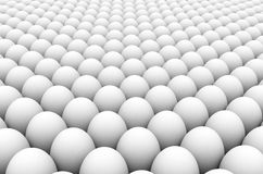 Eggs. 3d image of an egg army formation vector illustration