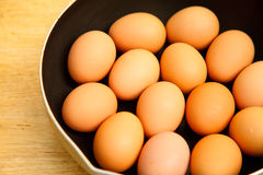 Eggs. Are part of the food home Royalty Free Stock Images