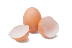 Eggs. Broken and unbroken eggs royalty free stock photo