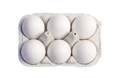 Eggs. Package of eggs Stock Photos
