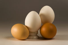 Eggs. Still-life with four eggs and a marble support Stock Photography