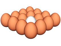 Eggs 3d Royalty Free Stock Photography