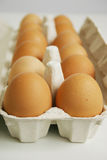 Eggs. In a white packaging Royalty Free Stock Image