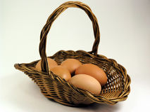 Eggs. And basket stock photography