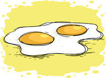 Eggs. Hot fried eggs, vector illustration Stock Image